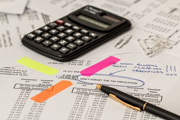 calculator, and papers for auditing
