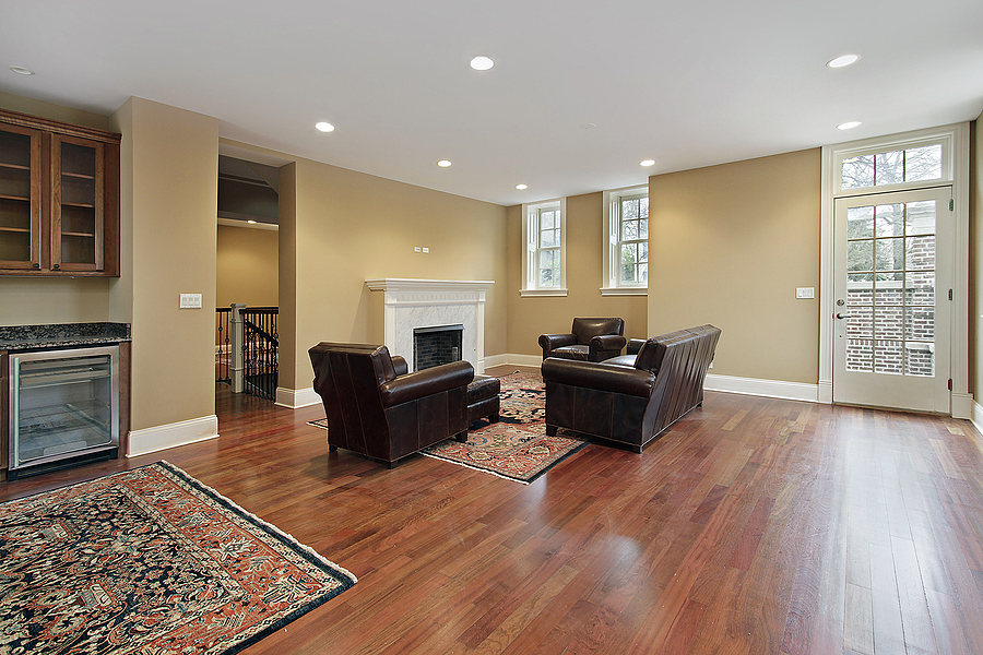 Living area with hardwood timber floor